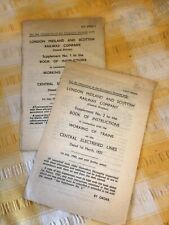 More details for 1937 london midland and scottish railway electrified lines instruction books...
