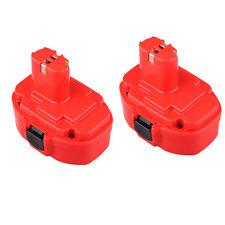 2 x NEW 18 VOLT 18V BATTERY FOR MAKITA 8443D BMR100 JR180D LS711D 6347D UB181D