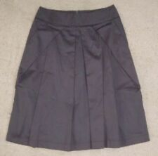 Cotton Above Knee Pleated Skirts for Women