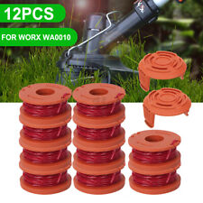 12 Pack Replace Spool String Trimmer Line For Worx 10 Pack Spool And 2 Cap Tools