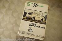 Jack Brabham's Car Care Cards Anglia Original 1968 Car Maintenance Cards