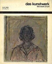 DAS KUNSTWERK THE WORK OF ART - August/September 1963, N. 2-3/XVII