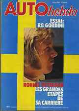 AUTO HEBDO n°131 du 21 Septembre 1978 GP ITALIE PETERSON R8 GORDINI TAMBAY