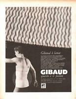 ADVERTISING PUBBLICITA' CINTURA DR. GIBAUD - 1967