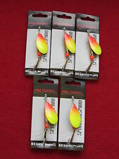 5 cuillers pikefishing numero 7 - 15 grs pour brochet