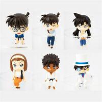 Detective Conan white suit PVC figure figures set of 6pcs doll dolls anime new
