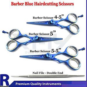 Barber Scissor Hairdressing Salon Stylish Blue Color Hair Cutting Beard Shears