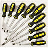9pc Insulated Magnetic Screw Driver Precision Tool Set Grip Soft Handles UK