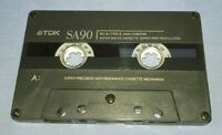 TDK SA 90 USED BLANK cassette tape NO INLAY