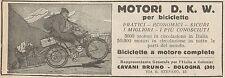 Y7905 Biciclette a motore D.K.W. - Pubblicità d'epoca - 1925 Old advertising