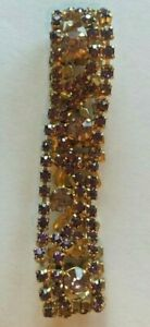 Vintage Gold Metal Bracelet With Purple Stones
