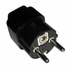 Grounded AC Adaptor Converts USA UK (British) to EUR (Europe) Outlet Travel Plug