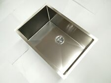 stainless steel TOPMOUNT UNDERMOUNT KITCHEN sink single square laundry trough R5