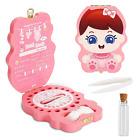 Fairy Baby Teeth Keepsake Box, Pink Love Baby Tooth Box Tooth Holder for Girls