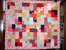 Machine Sewn Patchwork Quilt Vibrant Colors 56X64 Clean Non smoking Home