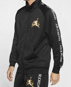 Jordan Jumpman Classics Tricot Warm-Up Jacket Sizes M L XL Black Gold CK2180-011