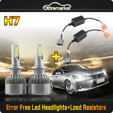 H7 CREE COB LED Headlight for Volvo VW Auid Benz 72W 7600LM Canbus Error Free