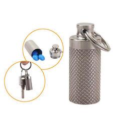 2018 Waterproof 35mm Pill Storage Cases Anti Slip Fob Titanium Capsule Container