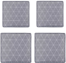 Set of 2 Chair Pad Patio Garden Seat Outdoor Sports Events Soft Durable Grey