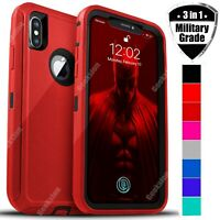 For Apple iPhone X XR XS Max Shockproof Rugged Protective Defender Case Cover
