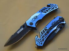TACFORCE SPRING ASSISTED SPIDER DESIGN TACTICAL KNIFE WITH POCKET/BELT CLIP