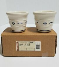 2 pc Longaberger Votive Holder Classic Blue 35904 with Box Usa Pottery Toothpick