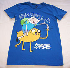 Adventure Time Mens Finn Jake Blue Printed Short Sleeve T Shirt Size XXXS New