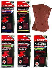 Dekton 1/3 Sanding Pads Rectangular Sheets 40 60 80 120 Or Mixed Grit 93 x 230mm
