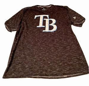 Tampa Bay Rays Fanatics Branded Official Logo Space Dye T Shirt Men's Sz XL