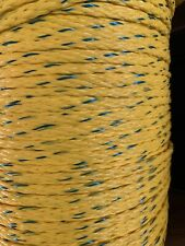 "1/4"" x 560' 8 Strand Hollow Braid Polypropylene rope. Yellow/blue. 5 Lengths"