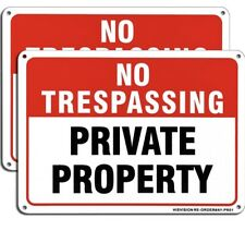 """4Pack Of """"Private Property No Trespassing� Aluminum Uv Coated Metal Reflect Sign"""