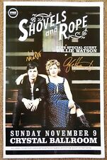 Signed SHOVELS AND ROPE Gig POSTER In-Person w/proof Autograph Concert