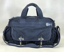 "Boss Hugo Boss Rare Black Canvas 20"" Carry On Weekender Duffle Bag"