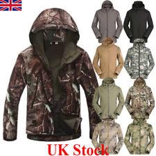 UK New Men Soft Shell Shark Skin Waterproof Jacket Hoodie Military Outdoor Coat