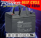 Neuton Power NPD12400 12V 40Ah AGM Deep Cycle Battery Golf Buggy Scooter