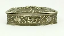 Vintage Albert Bodemer (ALBO) German 835 Silver Decorative Pill Box 41Gram's