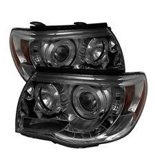 Toyota 05-11 Tacoma Smoke Dual Halo LED Projector Headlights Lamp PRE/X-Runner