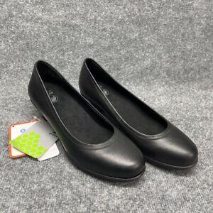 Crocs Grace Womens Alice Classic Pump Cuban Heels Black Leather Slip On 10 New