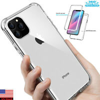 iPhone 11/11 Pro Max 360° Full Heavy Duty Protective Shockproof Clear Case Cover