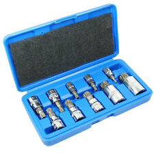 10pc XZN Triple Square 12 Point Spline Bit socket Set 4MM - 12MM