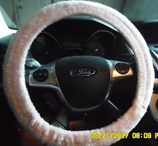 NEW STEERING WHEEL COVER SOFT PLUSH PINK