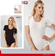 Damen Body- Lycra Basic- kurzarm- Unterhemd- T-Shirt- 90% Baumwolle-N- 266