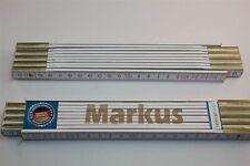 Zollstock mit Namen      MARKUS    Lasergravur 2 Meter Handwerkerqualität