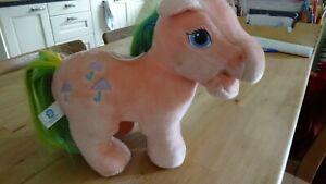 Vintage My Little Pony Hasbro Softies Parasol Plush Soft Toy 1980's