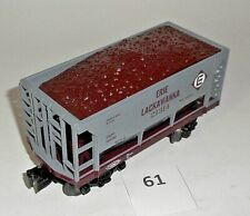 MTH SINGLE BAY ERIE LAKAWANNA 21314 Hopper Car w/ DIRT Load O Scale EXCELLENT 61