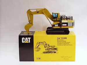 "Caterpillar 5130B Excavator - ""LAUNCH EDITION"" - 1/50 - NZG #391.1 - MIB"