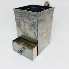 VTG James W Tufts Shaving Mug Quadruple SilverPlate 2666 The Utility Shaving Cup