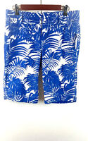 OLD NAVY Boy's Mid Rise Size 6 Swim Trunks Board Shorts Tropical Blue/White