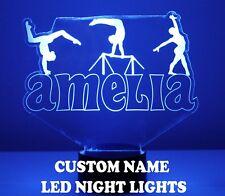 Gymnastics Light Up Name Night Lamp - 16 Color LED w/ Remote - Gymnast Gift LED