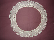 #280 Beautiful Vintage Handmade  Filet Collar 11''(27cm)